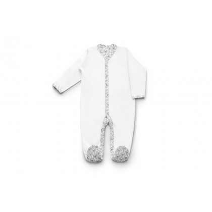 Pyjama avec pieds - Blanc