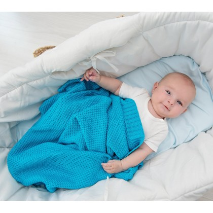Bamboo blanket - Turquoise