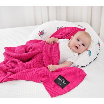 Bamboo blanket - Raspberry