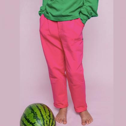 Pantalon Boyfriend - Fuchsia