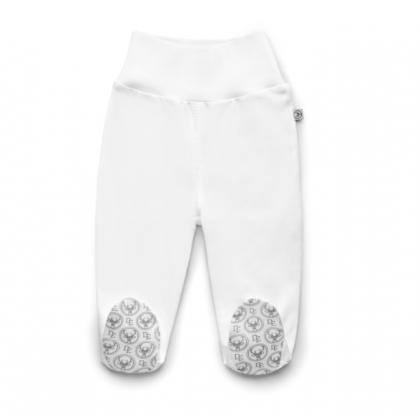Pantalons avec pieds - Blanc