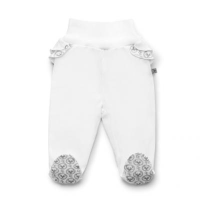 Pantalons avec pieds pour fille - Blanc