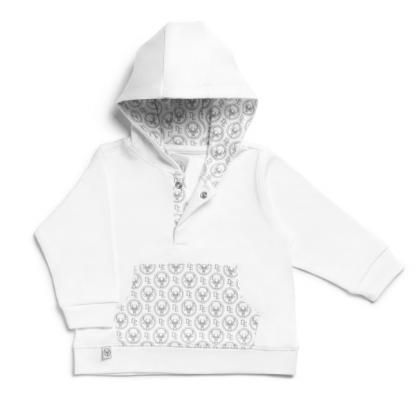 Sweat à capuche - Blanc